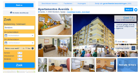booking-appartementen-avenida